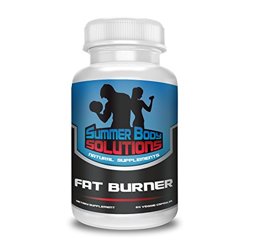 Summer Body Solutions Fat Burner for Men and Women – Premium Thermogenic Weight Loss Supplement – NO JITTER Muscle Preserving Natural Diet Pill – 60 Veggie Capsules