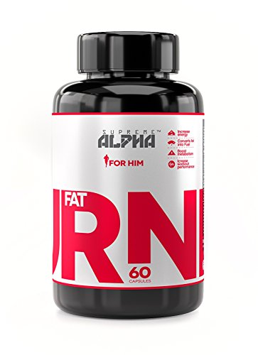 SUPREME ALPHA® – FAT BURNER For Men, Weight Loss Supplement, Thermogenic Burner, Powerful Appetite Suppressant, Dietary Supplement, Boost Metabolism, Diet pills, Increases Energy & Focus-60 capsules